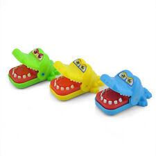 Chic Mini Crocodile Mouth Dentist Bite Finger Game Funny Toys Gift With Keychain