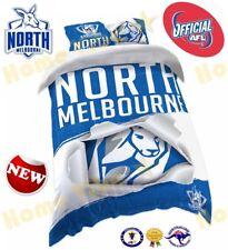 OFFICIAL AFL 2018 NORTH MELBOURNE KANGAROOS QUILT DOONA COVER SET NEW SINGLE SZE