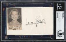 Lauren Bacall D.2014 Actress The Big Sleep Signed Index Card BAS