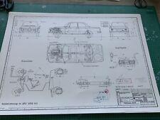 BMW E10 2002 tii 1971 Blueprint / Konstruktionszeichnung