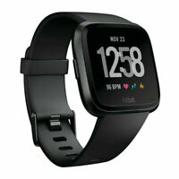 New Fitbit Versa Tracker/Smart Built-in Battery Watch(black)