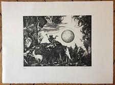 Sosolic Dominique gravure 1974 signée le retour triomphal d'Edward Detmold