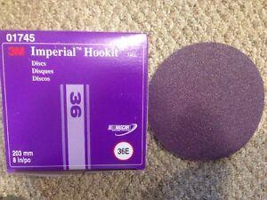 "NEW 3M 01745 IMPERIAL HOOKIT DISCS 740I 3M 8"" INCH 36E (25) DISCS PER BOX 1745"