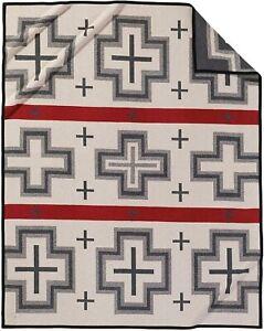 Pendleton San Miguel Warn Wool Patterned Throw Blanket, Grey, Twin Size