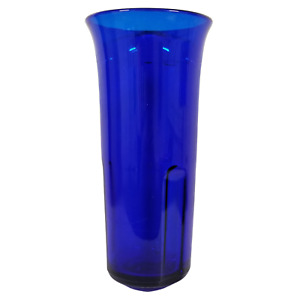 """Vintage Glass Flower Vase (10"""" Tall) Cobalt Blue G7495"""