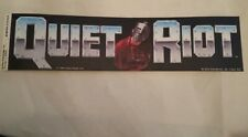 Quiet Riot - Vintage Early 80'S Bumper Sticker Authentic Nos