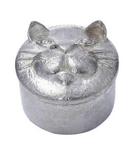 Wentworth Pewter - Cast Pewter Cat Trinket Box