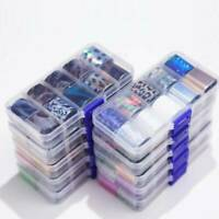10 Rolls/Box Nail Art Foil Sticker Nail Transfer Paper Lace Star Nail Art Tips