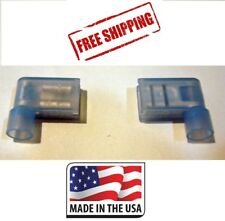(50) Blue Nylon Female Flag Terminals RIght Angle Electrical Connector 16-14 Ga.