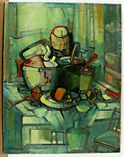 Hungarian Deszo Kovesi Xx - Still Life with Vessels