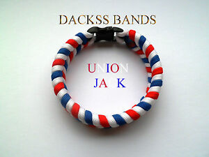 Union Jack Hand Made ParaCord Wristband Bracelet 10% donation to Help For Heroes