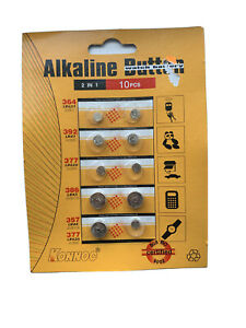 10PCS  Button Cell Coin  Batteries AG1 AG3 AG4 AG12 AG13 364 392 377 386 357 377