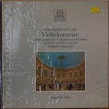 LECLAIR: Violin Concertos-SEALED1978LP GERMAN IMPT JAAP SCHROEDER DAS ALTE WERK
