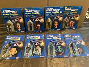 Star Trek The Next Generation GALOOB Figure LOT of 8 1988 Action Figures !