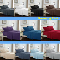 Queen size sheets 1800 Count 4P Hotel Luxury Bed Sheet Set Deep Pocket Sheets G2
