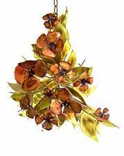 Copper Brass MCM Original Signed Metal Flower Bouquet Wall Sculpture