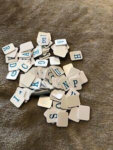 Hangman Letter Tiles Replacement Parts Blue Milton Bradley 100+ pieces