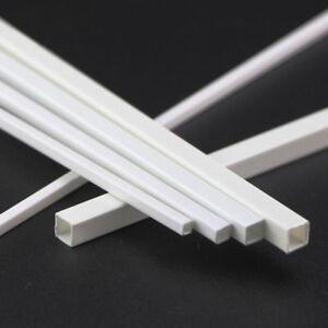 ABS Plastic Square Tube White Hollow Bar DIY Model 3x3x250mm to 10x10x250mm