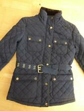 ATMOSPHERE PRIMARK ladies navy quilted jacket coat belted UK 8 EXCELLENT
