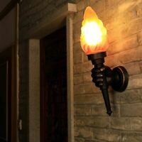 Torch Lamps Wall-mounted Sconce Led Bulb Light Home Hallway Night Lighting Retro