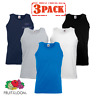 3 x Fruit Of The Loom MEN'S ATHLETIC VESTS TANK TOP FIT GYM SPORT COLOURS PACK