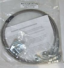 ROCK KRAWLER RK02038 LONG TRAVEL STAINLESS STEEL BRAKE LINES JEEP WRANGLER JK