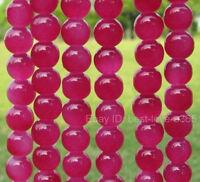 Wholesale Fuschia JASPER Round Loose BEADS - Choose 4MM, 6MM & 8MM 10MM
