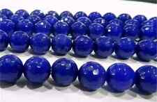 New 6mm Faceted Blue Sapphire Gemstone Loose Beads 15''  SS05