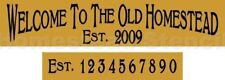 ~ITEM #2570 F Primitive Stencil~ WELCOME TO THE OLDE HOMESTEAD
