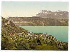 Gersau With Oberbauen Lake Lucerne A4 Photo Print