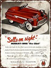 "1956 Murray Pedal Car Champion Fire Chief FBI Royal Sport Metal Sign 9x12/"" A093"