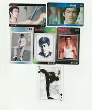 (5) Rare Bruce Lee Phone Cards plus 1 bonus card