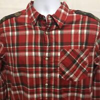 Buffalo David Bitton Mens Flannel Long Sleeve Pearl Snap Shirt Medium NWT