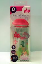 New NIP Glass Bottle Cup Baby Infant Toddler Orthodontic Teat (240ml)