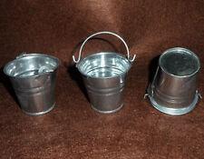 "3Pcs 1/6 Wwii German Army Metal Bucket Pail Scenery Accessories F 12"" Figure"