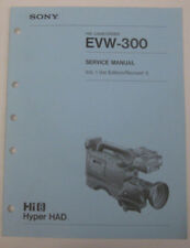 Service Manual For Sony EVW-300 Hi8 8mm Camcorder