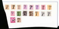 Belgium Lot of 17 Early Tax Stamps