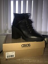 Asos Black Platform Boots Size 7 Brand New In Box