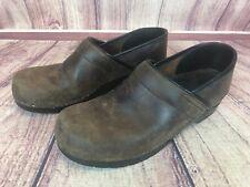Sanita Womens 41 / 10.5-11 Brown Leather Clogs Mules Shoes Nursing e5d