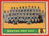 1961 Topps #373 Boston Red Sox Team VG-VGEX Ted Williams Vic Wetz FREE SHIPPING