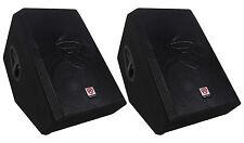"""(2) Rockville RSM12P 12"""" 1000 Watt 2-Way Passive Stage Floor Monitor Speakers"""