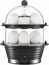 Chefman Electric Egg Cooker Boiler,Rapid-Maker & Poacher,Food &Vegetable Steamer
