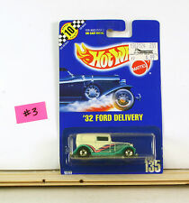 Hot Wheels '32 Ford Delivery White With Turquoise Fenders BP 135    B5
