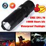 6000LM G700 X800 Gree T6 LED Tactical Mini Flashlight Zoom Military Torch Light