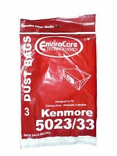 3 Kenmore 5023 5033 20-5033 Type E Vacuum Cleaner Bags -Sears Canister Style Vac