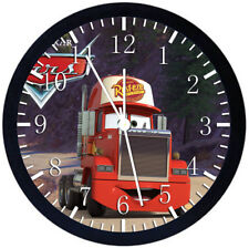 Disney Cars Mack Black Frame Wall Clock Nice For Decor or Gifts X24