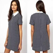 Polyester Short Sleeve Plus Size Shirt Dresses for Women