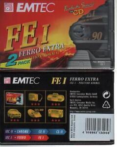BASF EMTEC FE I 90 2x cassette K7 tape Blank Vierge neuf type I