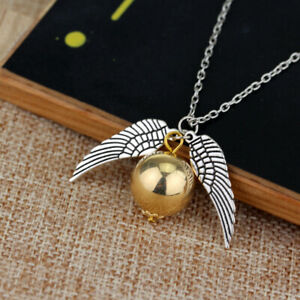 Snitch Wings Metal Necklace Woman Ornaments Xmas Gifts