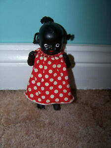 Vintage small black topsy doll - Used good condition